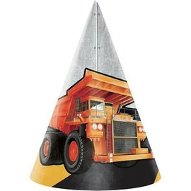 Big Dig Construction Party Hats, 8ct