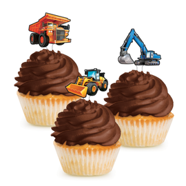 Big Dig Construction Cupcake Toppers, 12ct