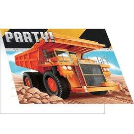 Big Dig Construction Invitations, 8ct