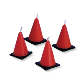 Big Dig Construction Cone Molded Candles, 6ct