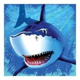 Shark Splash Lunch Napkins, 16ct