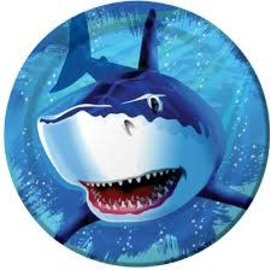 "Shark Splash 9"" Dinner Plate, 8ct"