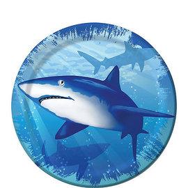 "Shark Splash 7"" Plate, 8ct"