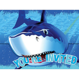 Shark Splash Folded Invitations, 8ct