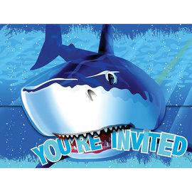 Shark Splash Folded Invitations, 8ct