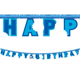 Shark Splash Happy Birthday Banner, 7'
