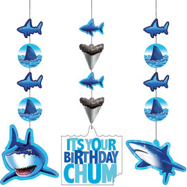 Shark Splash Hanging Cutouts, 3ct