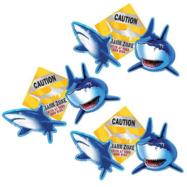 Shark Splash Cutout Assortment, 3ct