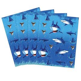 Shark Splash Value Stickers, 4 Sheets