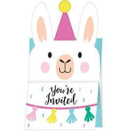 Llama Party Accordion Invitations, 8ct