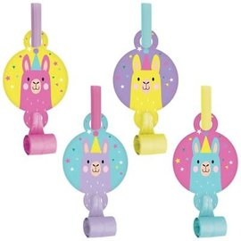 Llama Party Blowouts, 8ct