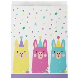 Llama Party Loot Bags, 10ct