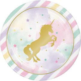 """Unicorn Sparkle 9"""" Plates, 8ct"""