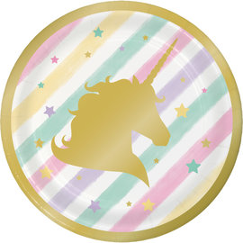"Unicorn Sparkle 7"" Plates, 8ct"