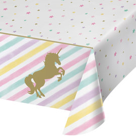 "Unicorn Sparkle Plastic Table Cover, 54"" x 102"""