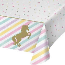 "Unicorn Sparkle Plastic Table Cover, 54"" x 102"""