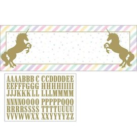 "Unicorn Sparkle 20"" x 60"" Banner with Stickers"