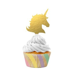 Unicorn Sparkle Cupcake Kit with Picks, 12ct