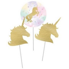 Unicorn Sparkle Centerpiece Sticks, 3ct