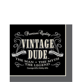 Vintage Dude Beverage Napkins, 16ct