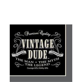 Vintage Dude Beverage Napkins, 16ct