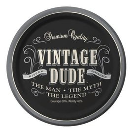 "Vintage Dude 9"" Dinner Plates 8ct"
