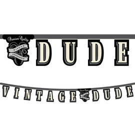"Vintage Dude Jointed Banner, 7"" x 66"""
