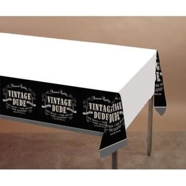 """Vintage Dude Plastic Table Cover, 54"""" x 108"""""""