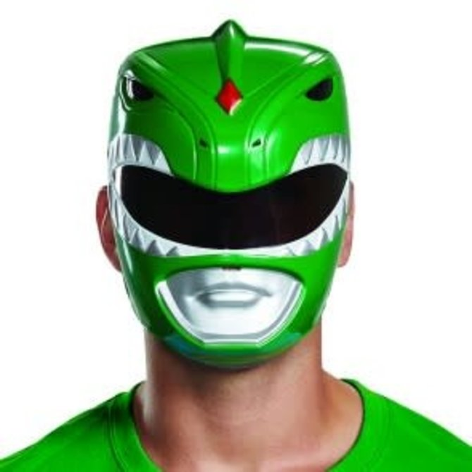 Green Power Ranger Mask Adult Pop Party Supply