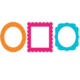 Photo Frame Props- Bright Colors 3ct