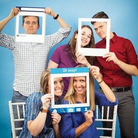 Photo Frame Props- Social Snaps 3ct