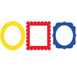 Photo Frame Props- Primary Colors 3ct