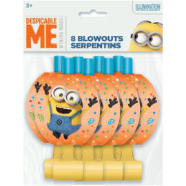 Despicable Me Minion Blowouts, 8ct- Clearance