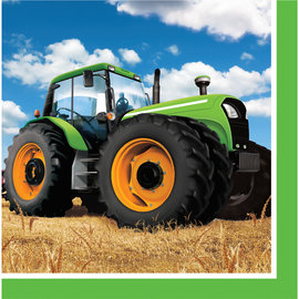 Tractor Time Lunch Napkins, 16ct