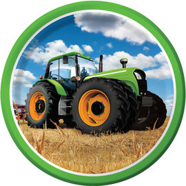 "Tractor Time 9"" Dinner Plate, 8ct"
