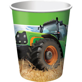 Tractor Time 9 oz Hot/Cold Cups, 8ct