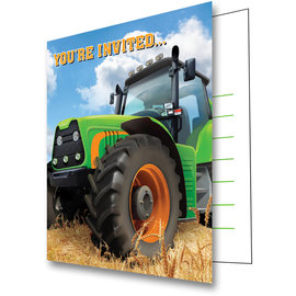 Tractor Time Invitations, 8ct