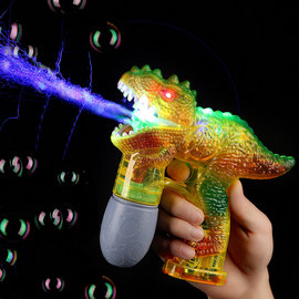 Flashing and Roaring Dino Bubble Gun