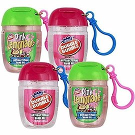 Double Bubble Scented Clip-On Hand Sanitizer-2 Assorted Flavors