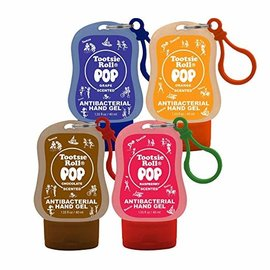 Tootsie Roll Scented Clip-On Hand Sanitizer-4 Assorted Flavors