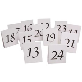 Table Number Tent Place Cards 13-24