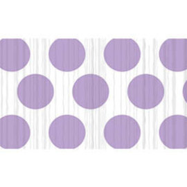 Crepe Streamer- Lavender Dots, 81'