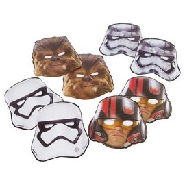 Star Wars Episode VII Paper Masks, 8ct