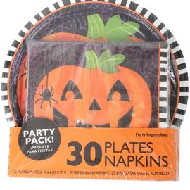 Pumpkin Plate and Napkin Value Pack, 30ct