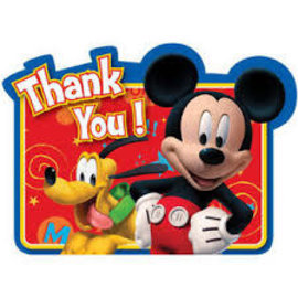 Mickey Mouse Thank You Postcards, 8ct