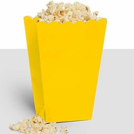 Popcorn Box, Large- Yellow Sunshine, 10ct