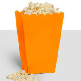 Popcorn Box, Large- Orange Peel 10ct