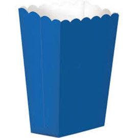 Popcorn Box, Large- Bright Royal Blue 10ct