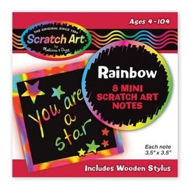 Rainbow Mini Scratch Art Note