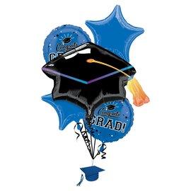 Blue Graduation Bouquet Package